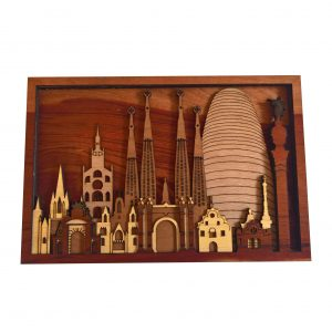 Barcelona Laser cut Wood Arts (3)