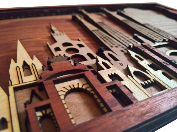 Barcelona Laser cut Wall Arts detailed front view