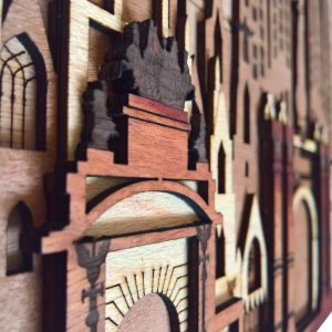 Barcelona Laser cut Wall Arts detailed side view3