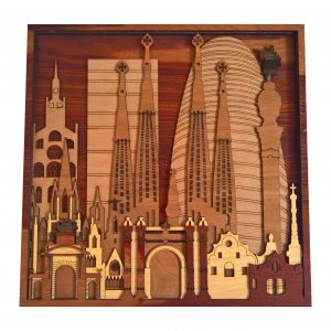 Barcelona Laser cut Wood Artworks (2)