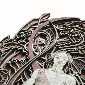 Daenery Targeryan Laser Cut Wall Artworks (1)