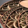 Laser Cut Circle Mandala Clock Artworks detailed side view