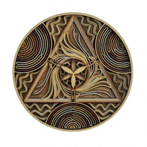 Leo Mandala Laser cut Wall Arts front view