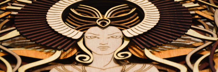 Venus laser cut wall art face view